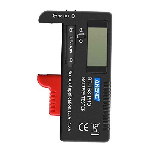 Amazing Deal Battery Tester Electrical Plastic Battery Tester LCD Digital Diagnostic Tool Universal ...