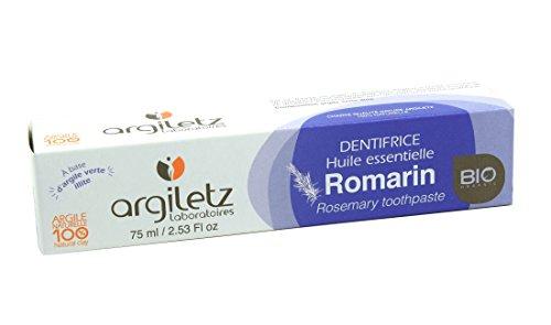 Argiletz Dentifrice à l'argile verte et au Romarin bio 75ml