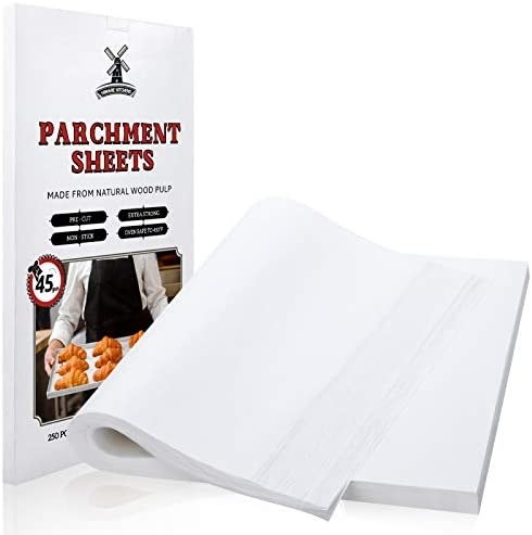 Hiware 250 Pcs Parchment Paper Sheets for Baking 12 X 16 Inch Fit for Half Sheet Pans Precut product image