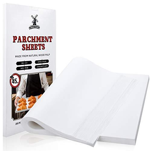 250 Pcs Precut Parchment Paper Sheets