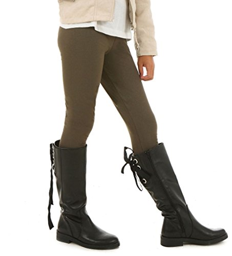 Dykmod Mädchen Thermo Leggings Leggins Winter Herbst Warm hk312 146 Olive