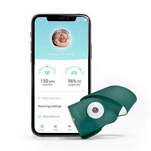 Owlet Smart Sock 3 Baby Monitor with Oxygen & Heart Rate, Deep Sea Green
