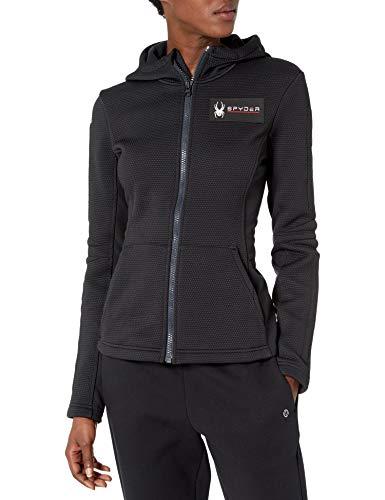 Spyder Active Sports Women's U.S. Ski Team Slalom Hoodie, Black, Large