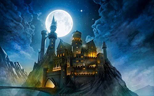 Div 5D Harry-Potter Hogwarts Castle Full Diamond Painting Kits De Punto De Cruz Art Cartoon Paint By Diamonds 40 * 30cm