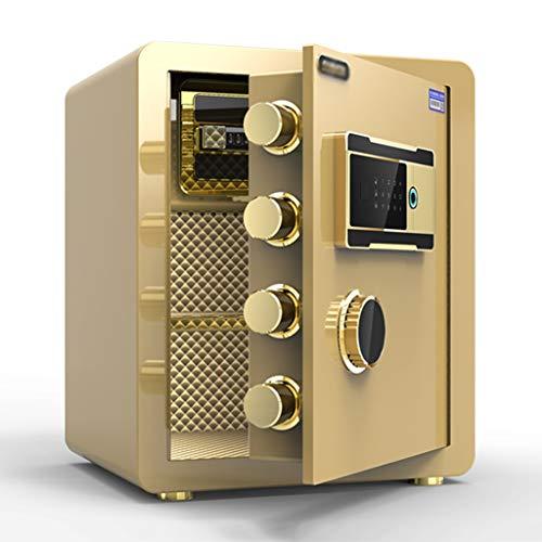 Spezialtresore Wandtresore Elektronischer Safe mit mittlerem Büro-Fingerabdruck-Safe Mini-Alarm-Nachttisch Sicherheitstechnik Tresore (Color : Gold, Size : 36 * 33 * 45cm)