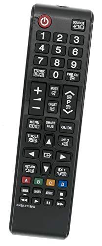 ALLIMITY BN59-01199G Fernbedienung Ersetzen fit für Samsung FHD Smart TV UE40J5200 UE40JU6050 UE43JU6050 UE65JU6000 UE32J4570 UE55JU6070 UE65JU6050 UA65JU6000 UE48J5205 UE43JU6000 UE60JU6075