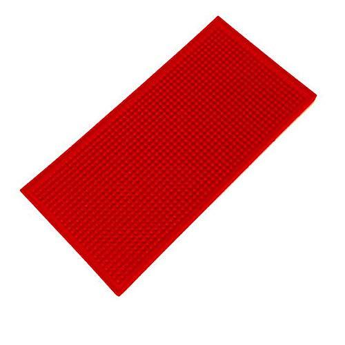 Unique WElinks Alfombrilla de goma antideslizante para barra de bar, bandeja de goteo de cristal, barra de cerveza, barra de servicio (roja, 30 x 45 cm)