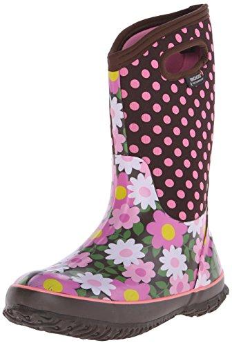 Bogs Classic High Flower Dot Waterproof Boot (Toddler/Little Kid/Big Kid)