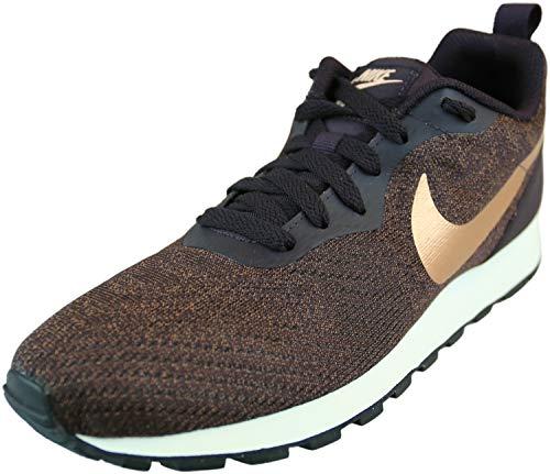 Nike Women's Md Runner 2 Eng Mesh Burgundy Ash/Metallic Red Bonze Ankle-High Fabric Running - 7M