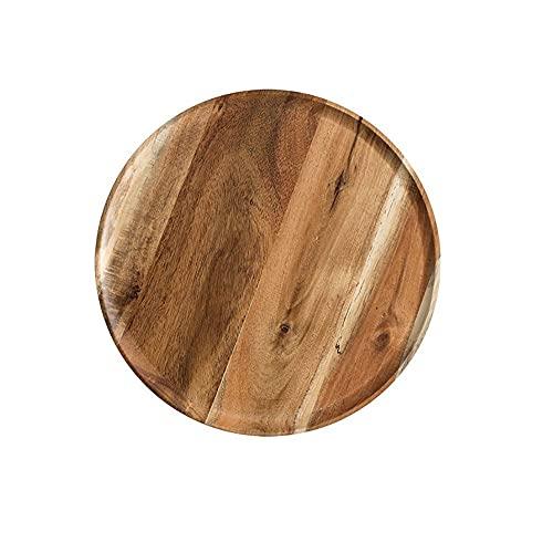 XINDUI Vassoio da Portata in Legno Piatto da Dessert per Torta Piatto da Portata per Alimenti Vassoi da Portata Decorativi Piatto da Portata(L-Acacia Wood)