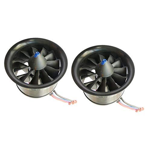 Milageto Juego de 2 Ventiladores de Conducto 4900KV para Motores Sin Escobillas EDF RC Piezas de Avión