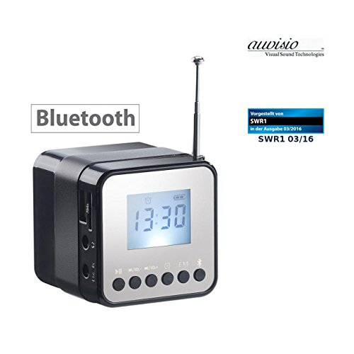 Auvisio kubusradio: mini-MP3-station MPS-560.cube met Bluetooth, radio & wekker, 8 watt (kleine radio)