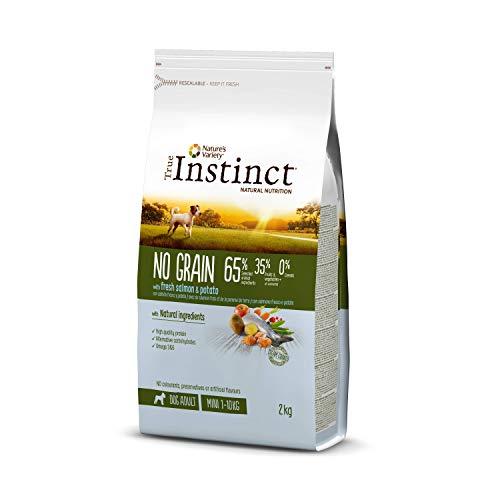 True Instinct No Grain - Pienso sin Cereales para Perros Adultos Mini con Salmón Fresco y Patata, 2kg