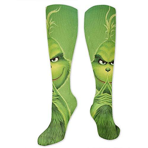Not Applicable Wie der Grinch Weihnachtssocken stahl,Damen-/Herrenstiefelsocke Kniehoch Warmer Strumpf Hohe Socken Beinwärmer für den täglichen Gebrauch 50CM