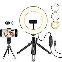 BNMMJ LEDフィルライト携帯電話ライブLedモバイルデスクトップライブフィルライトBluetoothカメラリングフラッシュ美容ライト写真美容フラッシュライブリング