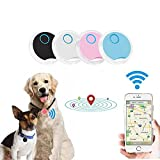 Pet Tracker GPS Locater Dog Finder No Monthly Fee with Fence Alarm App Control Design Waterproof Dustproof Dog & Cat Smart Collar Device for Tracking Real time Activities Routes & Safety