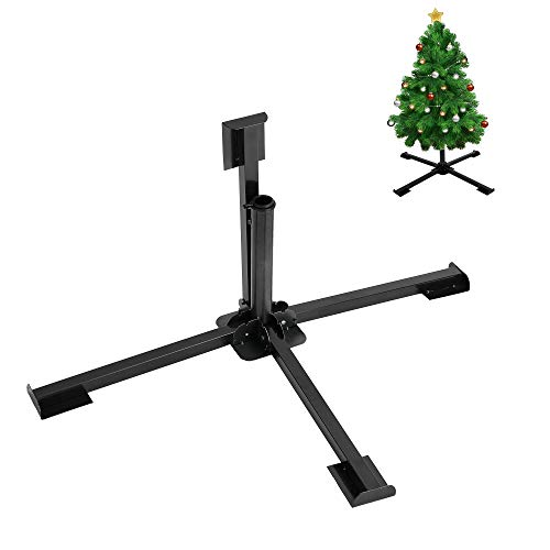 HOME RIGHT Christmas Tree Stand - 2.05 Inch Diameter Portable Foldable Heavy Duty Quadripod Rustproof Base Stand for Artificial Xmas Tree, Umbrella( 2.05 Inch)