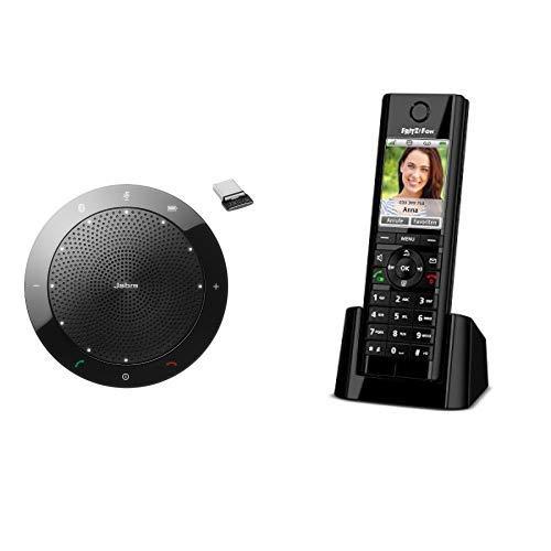 Jabra Speak 510+ MS Bluetooth-Freisprecheinrichtung für Microsoft zertifiziert inkl.) & AVM FRITZ!Fon C5 DECT-Komforttelefon schwarz, deutschsprachige Version