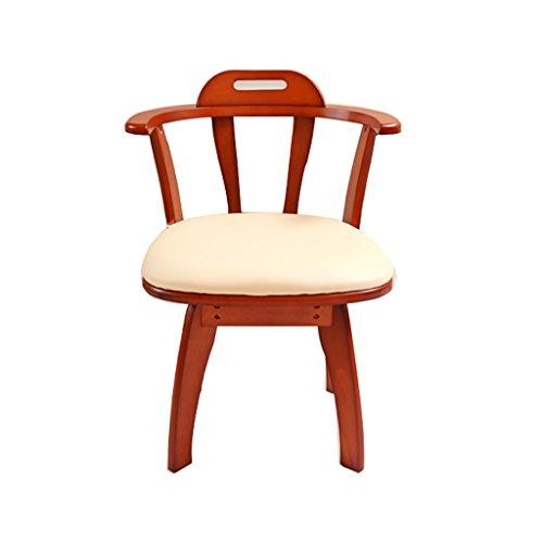 XUEPING massief hout krukje bureaustoel eenvoudig en modern met armleuning rug computer stoel slaapkamer vrije tijd kruk