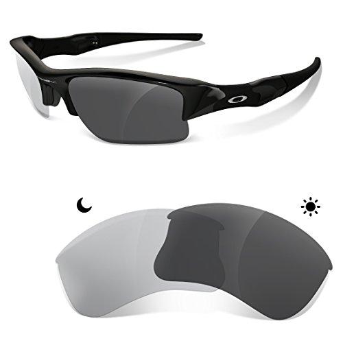sunglasses restorer Ersatzgläser Kompatibel für Oakley Flak Jacket XLJ, Photochromic Grey