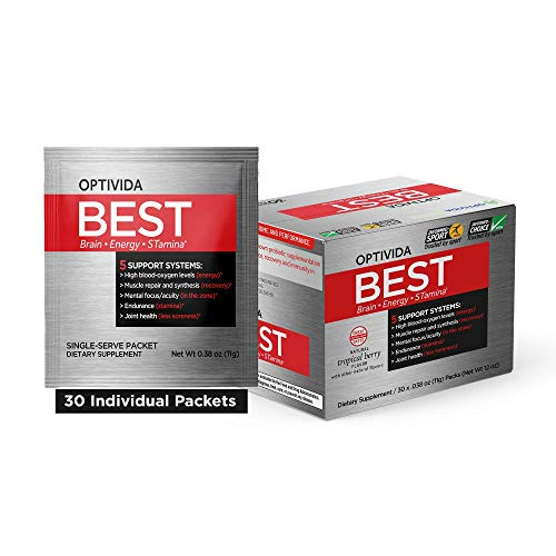 Plant-Based 5-in-1 The Next Generation Supplements - Brain Health, Extra Energy, Immune Health, Mental Focus, Endurance and Recovery, Optimized Nutrition in One Container,30 Individual Packets