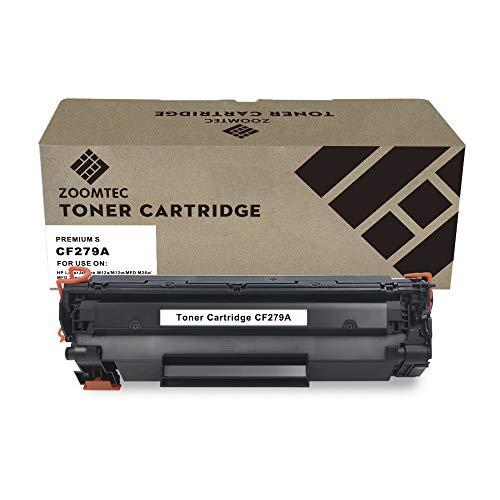 ZOOMTEC 79A CF279A Cartucho de Toner Compatible para HP Laserjet Pro M12a M12w MFP M26a M26nw (1 Negro)