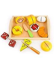 ままごとセット 木製おもちゃ ごっこ遊び 木のおもちゃ 誕生日プレゼント 入園お祝い キッチン食材 魚 果物 野菜