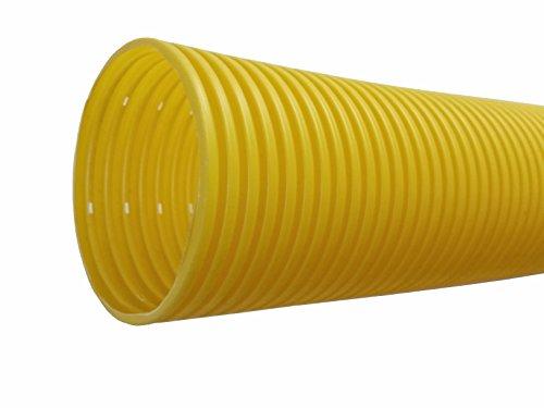 5m Drainagerohr Drainage gelb DN 100 gelocht Entwässerung
