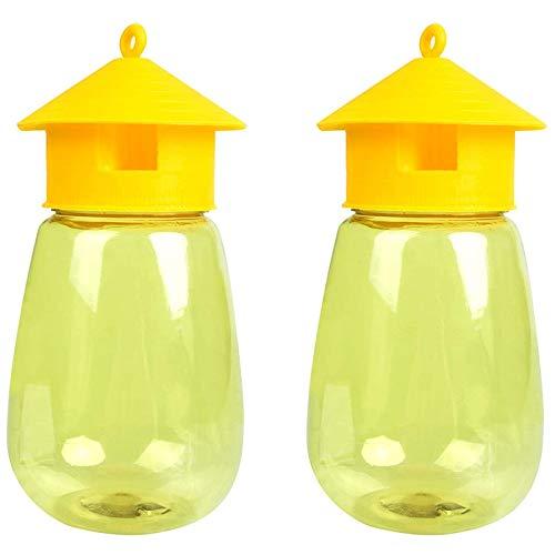 Heritan Paquete de 2 trampas reutilizables para moscas, trampas para moscas de frutas al aire libre