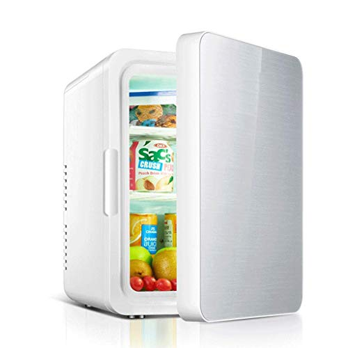 SHKUU Mini Kühlschrank, Mini Kühlschrank 10L Autokühlschrank Gefrierschrank Kühlung und Heizung langlebig