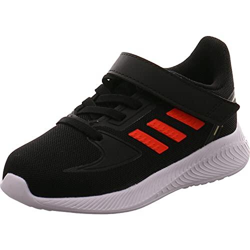 adidas RUNFALCON 2.0 I, Zapatillas de Running Unisex niños, NEGBÁS/Rojsol/FTWBLA, 20 EU