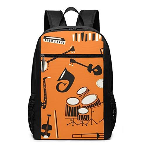 OMNVEQ Mochila Escolares Instrumentos De Violín Guitarra Pi