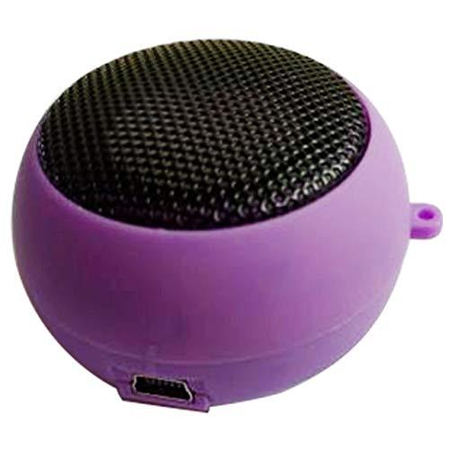 Mode schattige mini-luidspreker MP3-muziekluidsprekerspeler buiten 3,5 mm draagbare bekabelde luidspreker-sound-box voor computermobiele telefoons, paars