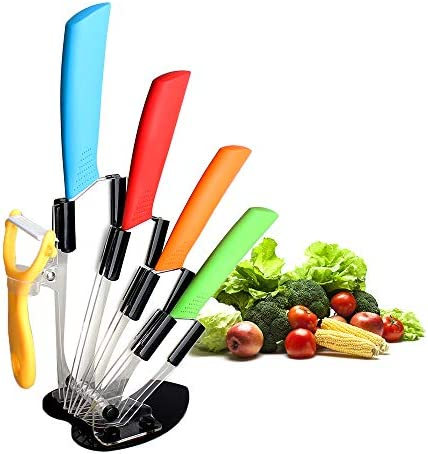 Ceramic Knife Set Five Piece 6 Chef Knife 5 Utility Knife 4 Fruit Knife 3 Paring Knife 1 Vegetable product image