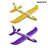 Ozzo Set of 2 Thermocol Plane , Airplane Toy , Large Throwing Foam