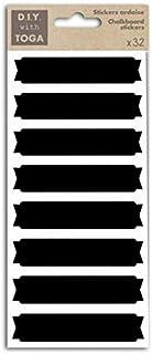 D.I.Y with Toga Etiquettes Ardoise STY012, Autre, Noir, 9 x 22 x 0.2 cm