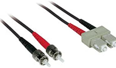 C2G/Cables to Go 37169 SC-ST 62.5/125 OM1 Duplex Multimode PVC Fiber Optic Cable (1 Meter, Black)