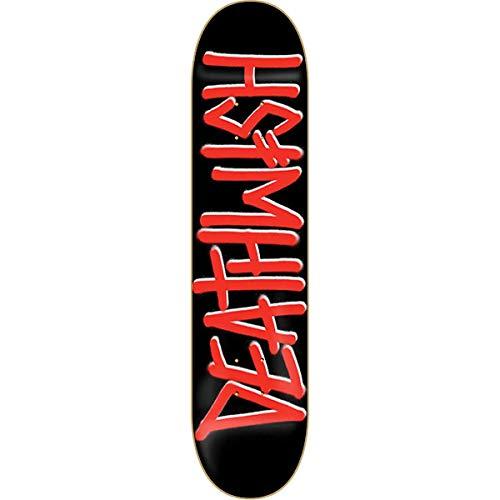 Unbekannt Deathwish Skateboard-Brett/Deck, 8.25, Schwarz/Rot