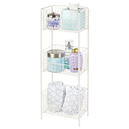 Cream Metal Shelf Unit