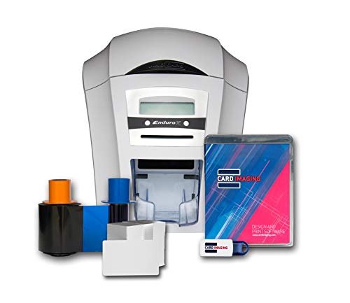 Magicard Enduro 3e Dual Sided ID Card Printer & Supplies Bundle with Card Imaging ...