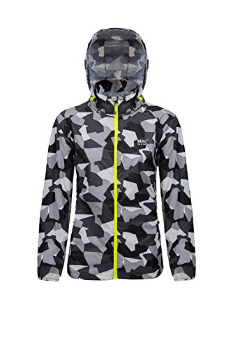 Mac in a Sac 1219WHTCM Edition-unisex regenjas waterdicht opbergbaar camouflage patroon wit-XXXL