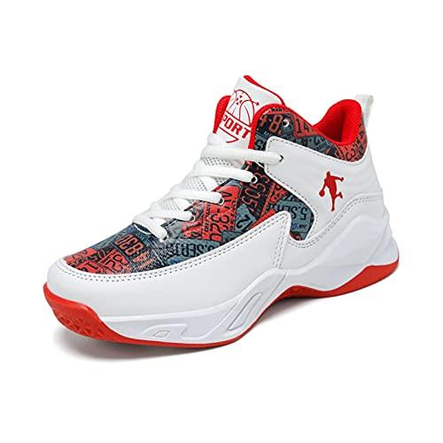 Cacagie Zapatillas de baloncesto para hombre, resistentes al desgaste, antideslizantes, para jóvenes,...