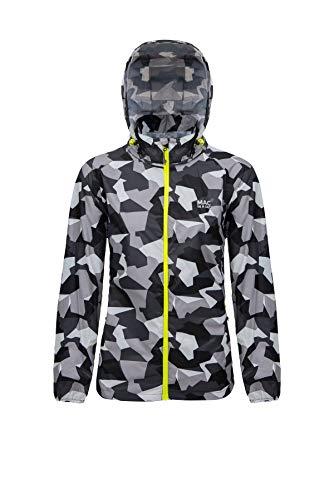 Mac in a Sac® - Veste imperméable Edition - Unisexe - Se replie dans Une Pochette - Imprimé Camouflage Blanc - XL