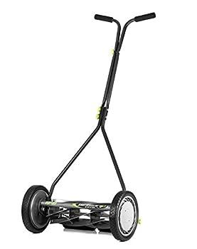 Earthwise 1715-16EW 16-Inch 7-Blade Push Reel Lawn Mower Grey