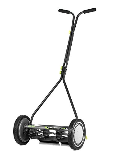 Earthwise 1715-16EW 16-Inch 7-Blade Push Reel Lawn Mower, Grey