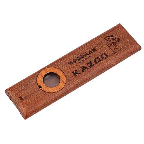 Kazoo, Vintage Wooden Kazoo Ukulele Guitar Partner Leicht zu erlernendes Musikinstrument für Kinder und Erwachsene