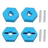 4 adaptadores hexagonales de Rueda de Aluminio de 7 mm a 12 mm para WLtoys A959 Piezas de actualización 1/18 RC Coche