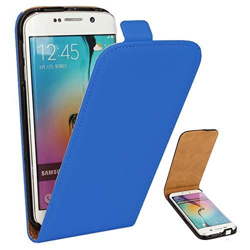 Roar Handy Hülle für Samsung Galaxy Alpha Handyhülle Blau, Flipcase Schutzhülle Tasche für Samsung Galaxy Alpha, PU Lederhülle mit Magnetverschluß