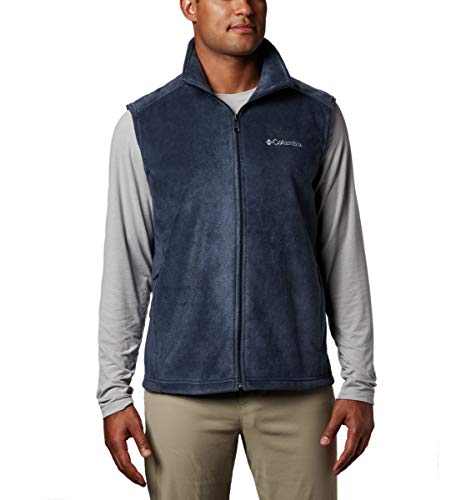 Columbia Men's Steens Mountain Full Zip Soft Fleece Vest, Collegiate Navy, Large