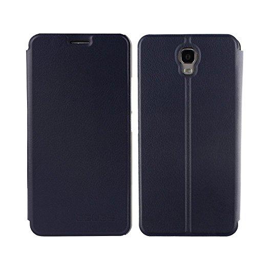 Tasche für Oukitel K6000 Plus Hülle, Ycloud PU Ledertasche Metal Smartphone Flip Cover Case Handyhülle mit Stand Function Marineblau